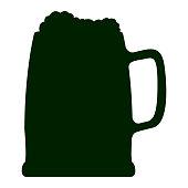 Silhouette of a beer mug, Vector illustration
