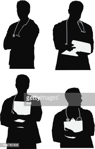 silhouette of a doctor vector art getty images