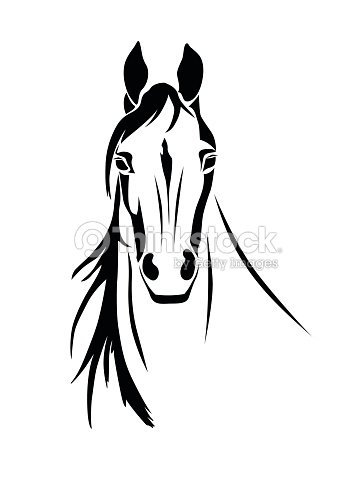 Silhouette of a horse head front view vector art thinkstock silhouette of a horse head front view vector art sciox Choice Image