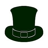 Silhouette of a traditional hat, Vector illustration, Vector illustration