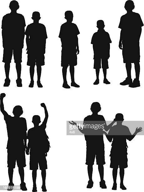 Silhouette of boys