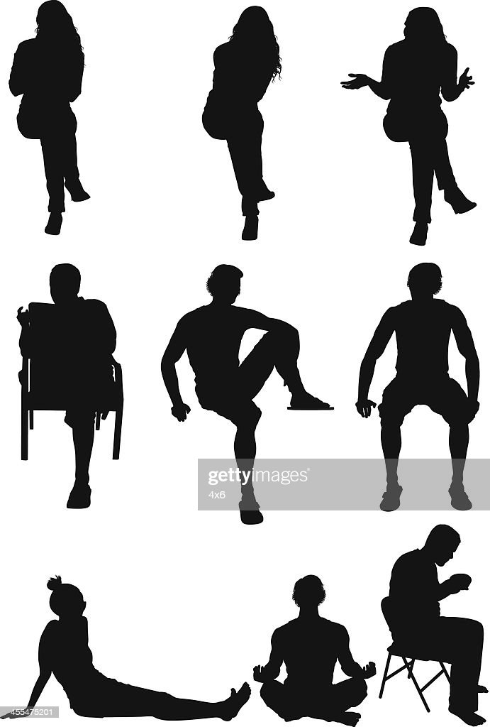 vector silhouette of people - photo #48