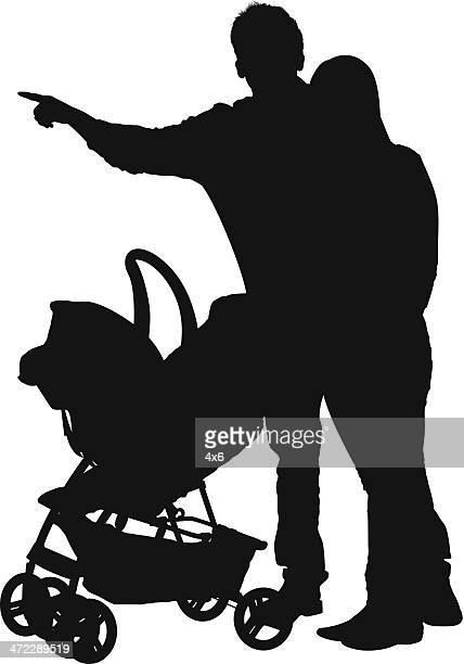 Baby Stroller Vector Art And Graphics Getty Images