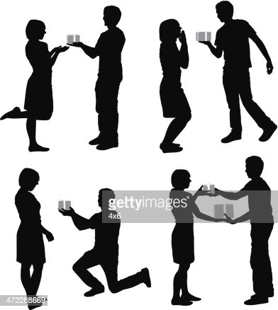 Couple download vector silhouette