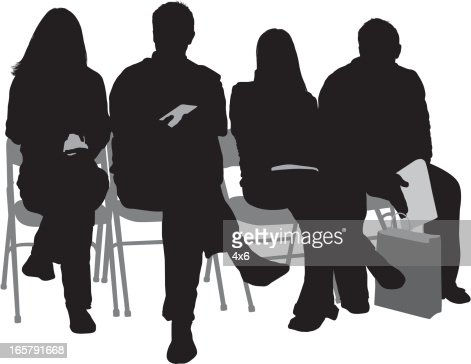 1. People Sitting On Chairs And Stools Vector Art   Getty Images