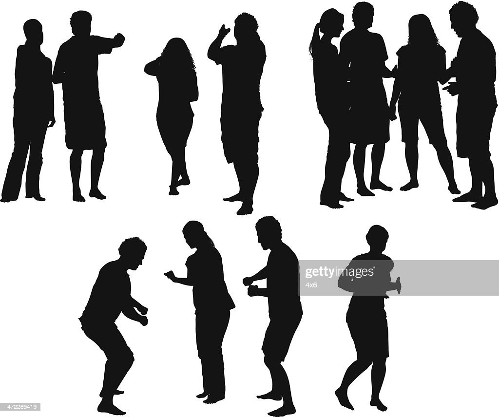 vector silhouette of people - photo #5