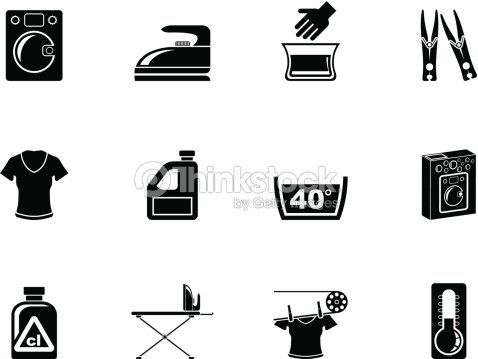silhouette dune machine laver et les ic nes de la blanchisserie clipart vectoriel thinkstock. Black Bedroom Furniture Sets. Home Design Ideas