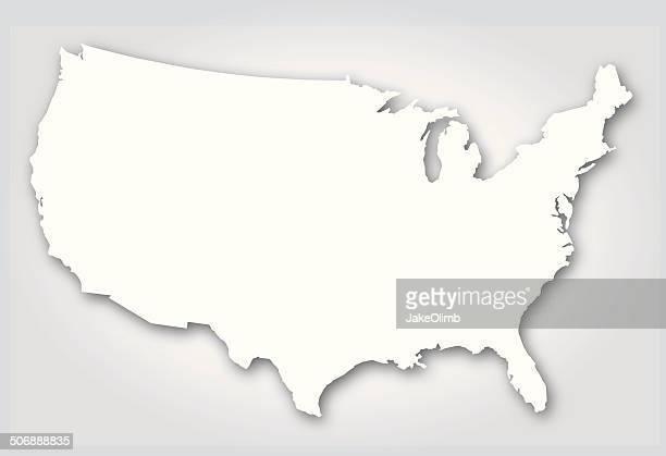 USA Silhouette White