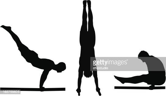 Image result for gymnastics boy silhouette