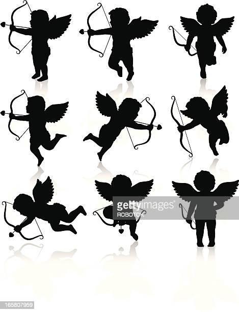 Silhouetten der Cupid