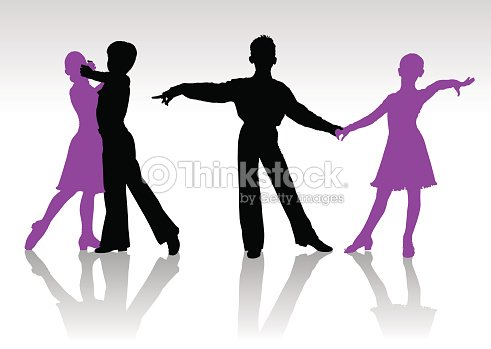 Ballroom Dancing Silhouette Vector Silhouettes Of ...