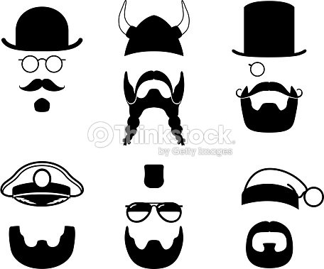 Silhouettes Parts Of Face Mustache Beard Hair Viking