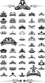 silhouettes Vector set of 50 crown - EPS 10 Vector. vol.2