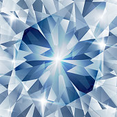 Illustration of Silver and blue with concept diamond