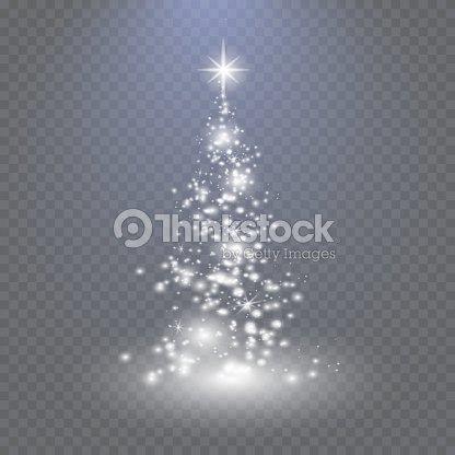 Tannenarten Weihnachtsbaum.Silber Weihnachtsbaum Auf Transparenten Hintergrund Vektorgrafik