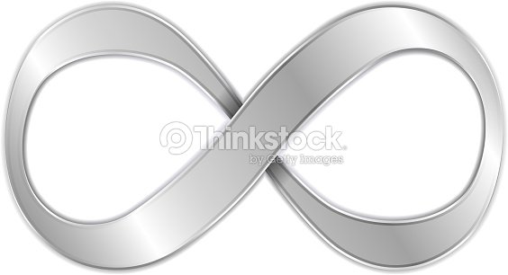Silver Infinity Symbol Against White Background Vector Art Thinkstock