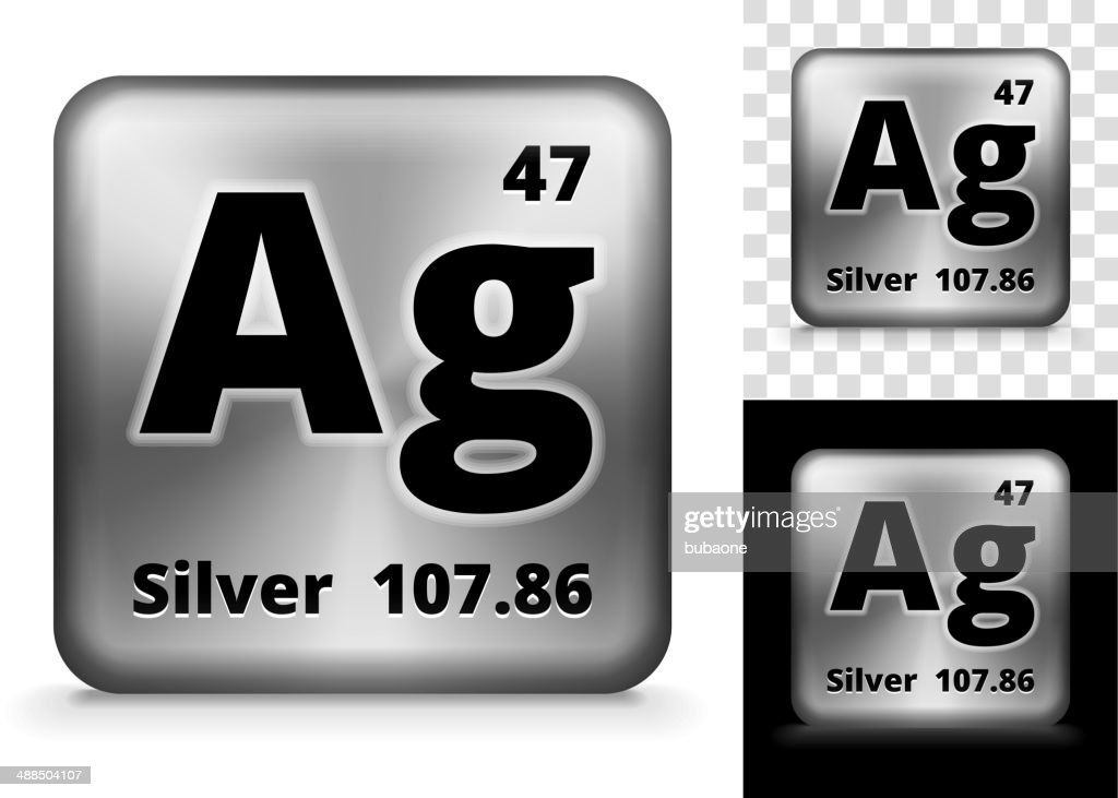 Silver Square Element Background Set Vector Art | Getty Images