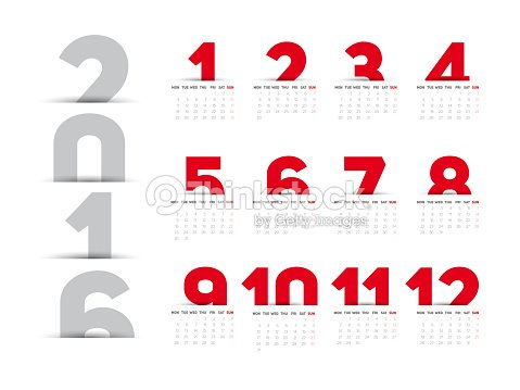 2016 Calendar Clip Art
