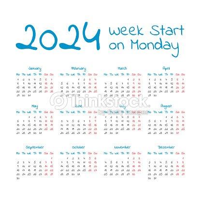Simple 2024 Year Calendar Vector Art | Thinkstock