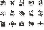 Simple airport and travel related vector icons for your design and application. Files included: vector EPS, JPG, PNG.