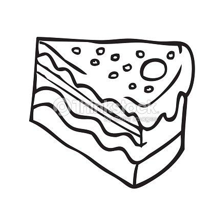 simple noir et blanc part de gâteau clipart vectoriel | thinkstock
