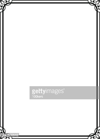 Einfaches Schwarz Indisches Dekorative Rahmen Vektorgrafik ...