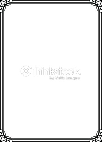 Simple Black Ornamental Decorative Frame Vector Art | Thinkstock