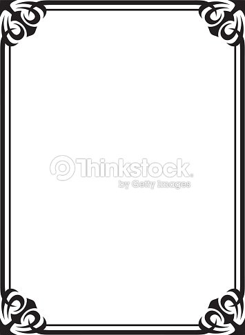 Simple Black Ornamental Decorative Frame Vector Art   Thinkstock