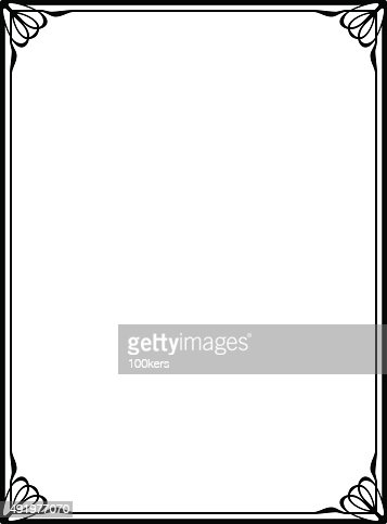Simple Black Ornamental Decorative Frame Vector Art
