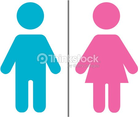 Simple Blue And Pink Male And Female Symbols Vector Art Thinkstock