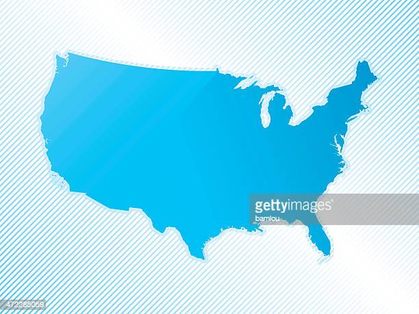 Us Map Without State Names Stock Photos And Pictures Getty Images - Us map no names
