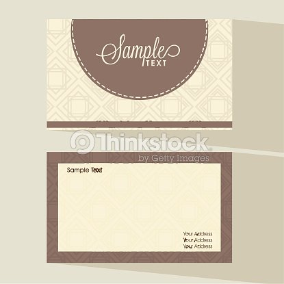 Simple Business Card Or Visiting Set Vector Art