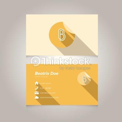 Simple Carte De Visite Modle Avec Alphabet Lettre B Clipart Vectoriel