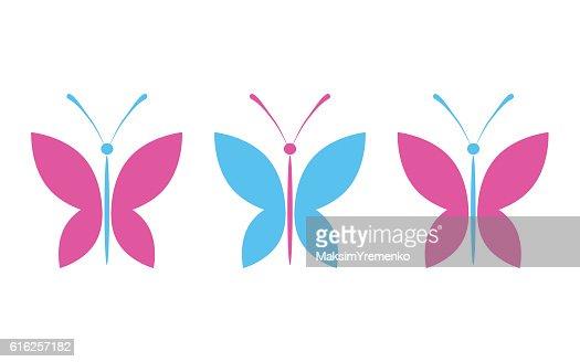 Simple colorful butterflies : Arte vetorial