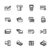 Simple Set of Credit Cards Related Vector Icons. Contains such icons as payment, chip, security, transactions and more.
