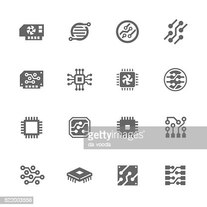 Simple Electronics icons : Vector Art