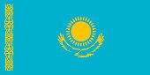 Simple flag of Kazakhstan. Correct size, proportion, colors.