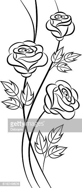 Sencillo fondo floral en blanco y negro : Arte vectorial