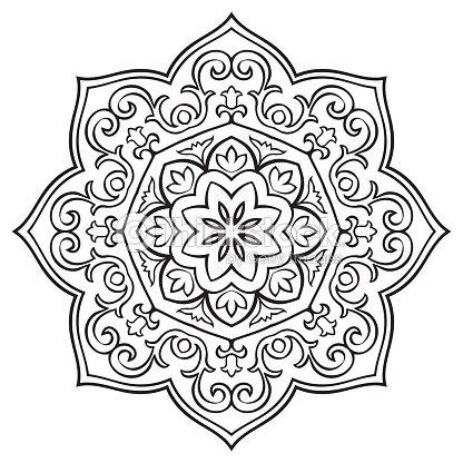 Simple Mandala Flores Arte vectorial | Thinkstock