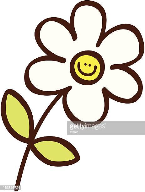 Einfache Blume cartoon illustration