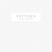 Simple geometric seamless pattern with diagonal crossing lines. Light collection. Abstract textured background design. Vector illustration for minimalistic design. Modern elegant wallpaper.