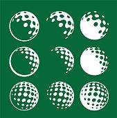 corporate identity golf ball iconic graphic golf balls