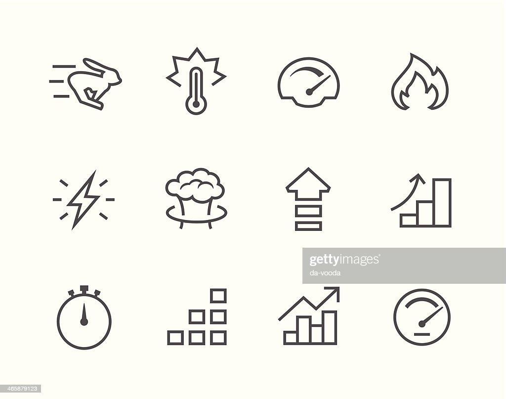 Simple Icon Set Related To Time Vector Art   Thinkstock