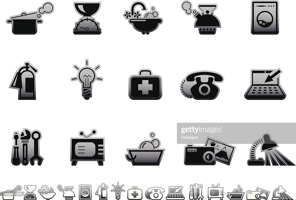 Simple icons – Home equipment : Vector Art