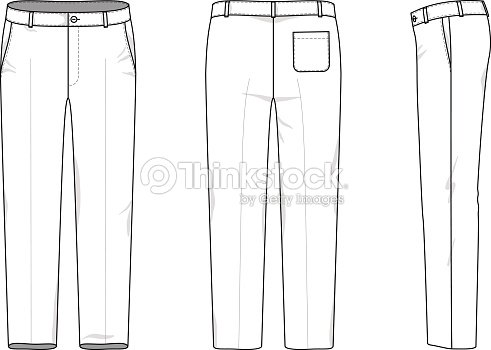 Simple Outline Drawing Of A Pants Stock Vector Thinkstock