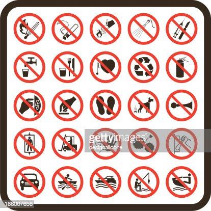 Les Panneaux De Signalisation Simple Interdit Clipart