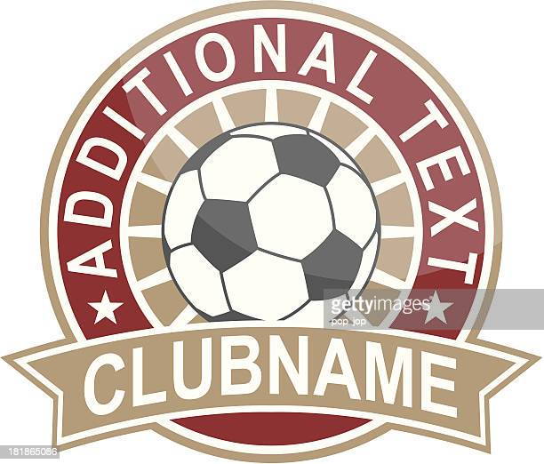 Simple round soccer logo