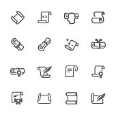 Simple Set of Scrolls and Papers Related Vector Icons. Contains such icons as scroll, gift card, diploma and more.