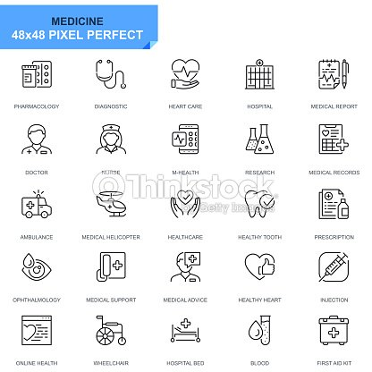 Simple Set Healthcare and Medical Line Icons : stock vector