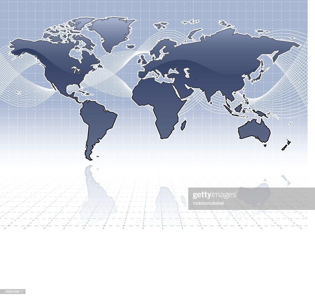 simple shiny world map : Vector Art